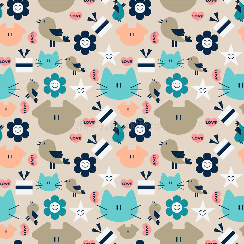 Download Seamless Pattern With Animals Stock Vector - Image: 27665555