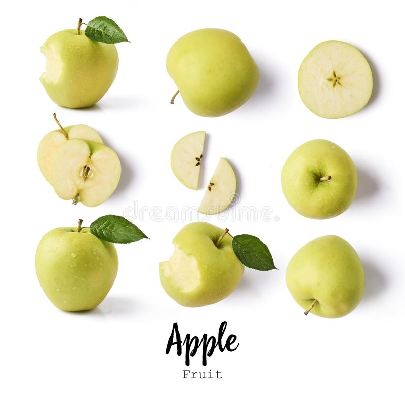 Seamless pattern with apples. apple fruits, creative layout isolated stock image