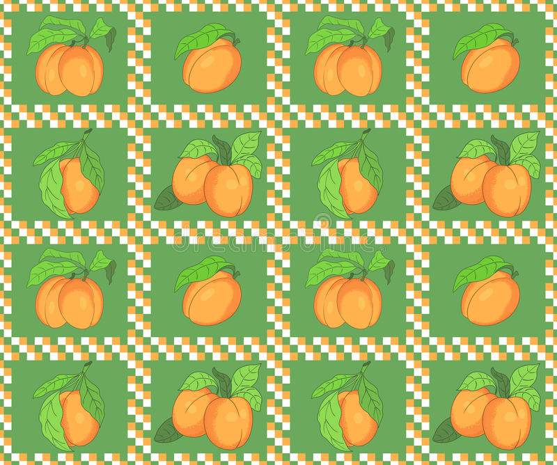 Download Seamless Pattern With Apricots Stock Vector - Image: 26012231