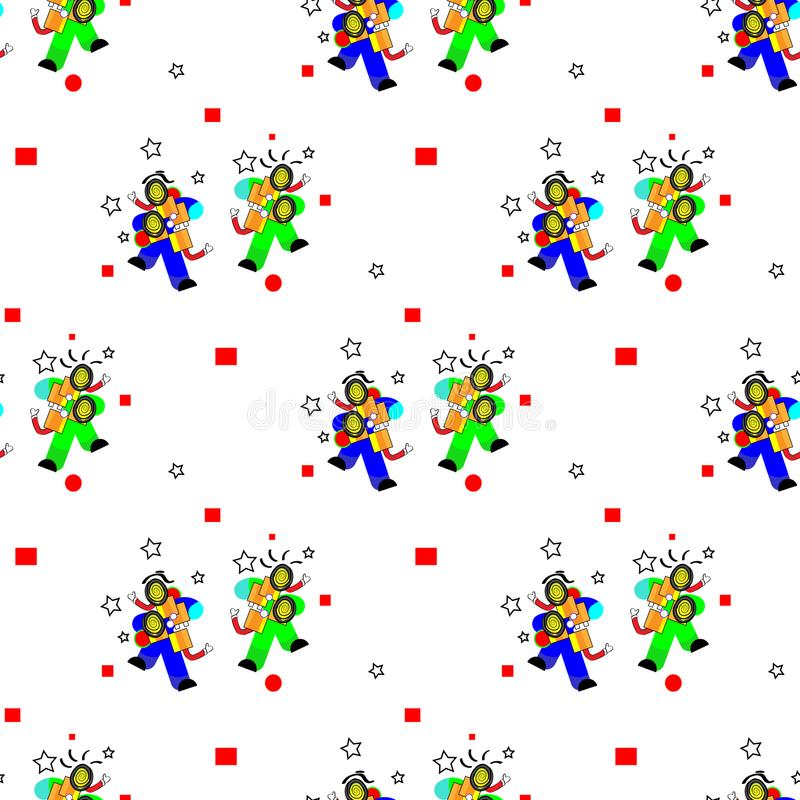Seamless pattern in april Fools Day and stupid party. Creative vector illustration for greeting card, ad, promotion, poster, flier stock illustration