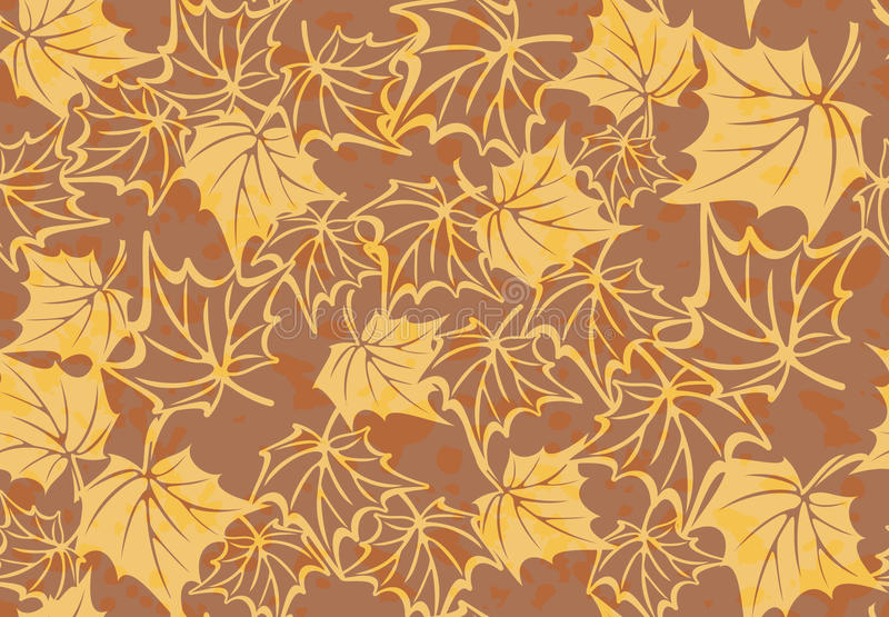 Seamless pattern with autumn leaves in a retro. Vector Seamless pattern with autumn maple leaves in a retro style. fall background vector illustration