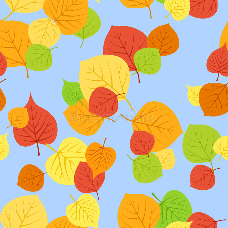 Download Seamless Pattern With Autumn Leaves. Vector EPS 8. Stock Vector - Image: 28037649