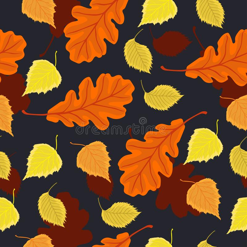 Seamless pattern with autumn leaves. Vector graphics. Seamless pattern with autumn leaves. Vector image stock photography