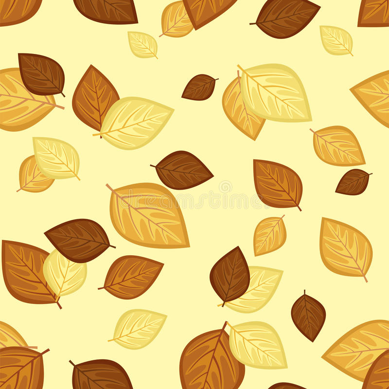 Download Seamless Pattern With Autumn Leaves. Vector Illust Stock Vector - Image: 26976107