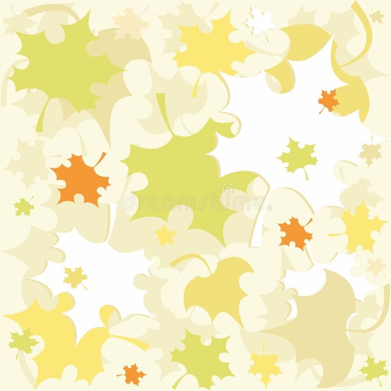 Seamless pattern with autumn leaves - vector. Seamless pattern with colorful autumn leaves. Useful also as design element for gift wrapping. Eps file available stock illustration