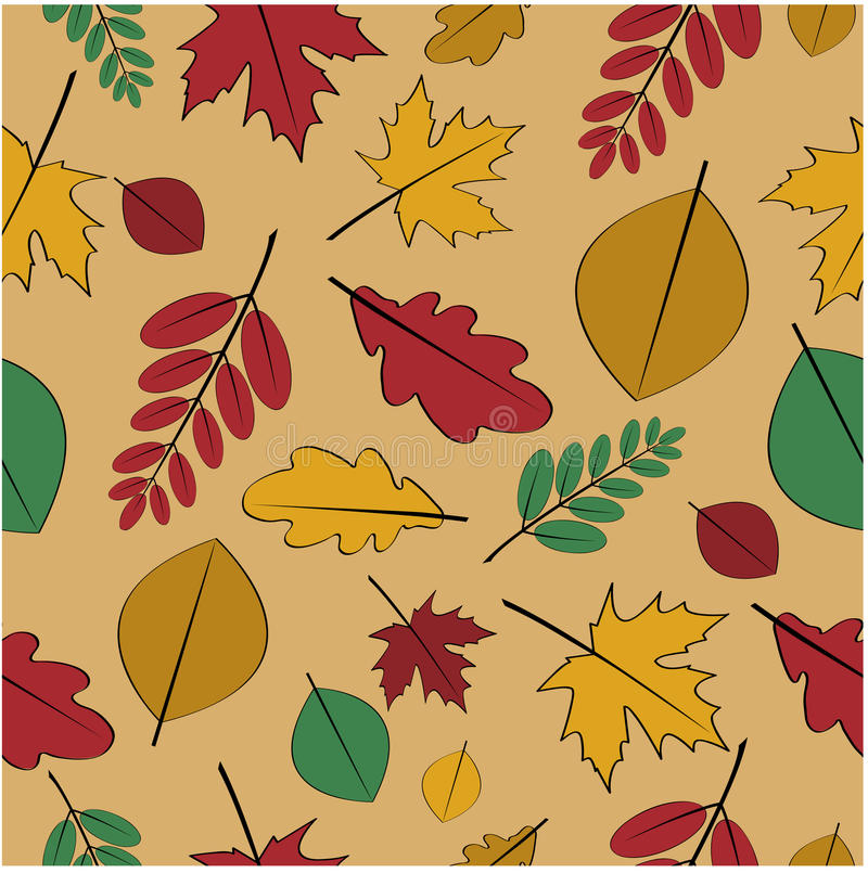 Download Seamless Pattern From Autumn Leaves Stock Vector - Illustration: 32500014