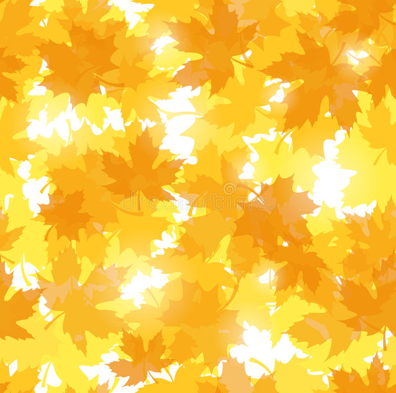 Download Seamless Pattern With Autumn Maple Leaves. Stock Vector - Illustration: 28038425