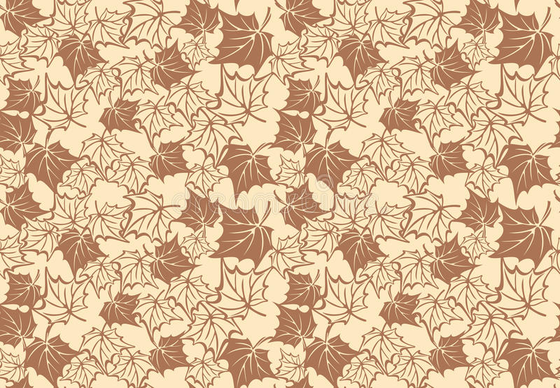 Seamless pattern with autumn maple leaves. Vector royalty free illustration