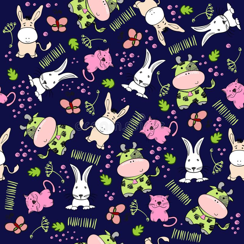 Download Seamless pattern stock vector. Image of animal, draw - 35667317