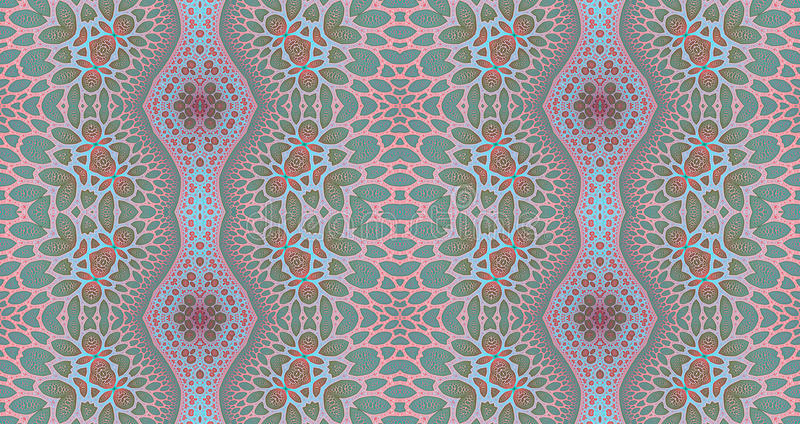Seamless pattern background ideal for carpets, tapestries, fabric and wallpapers with a detailed abstract floral pattern vector illustration