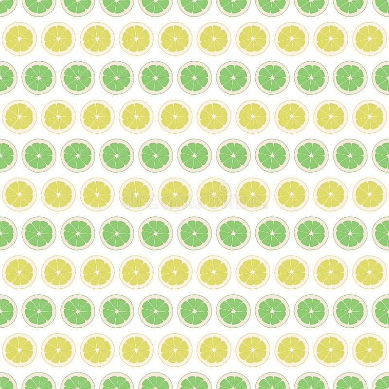 Seamless pattern background lemon and lime. Citrus vector vector illustration