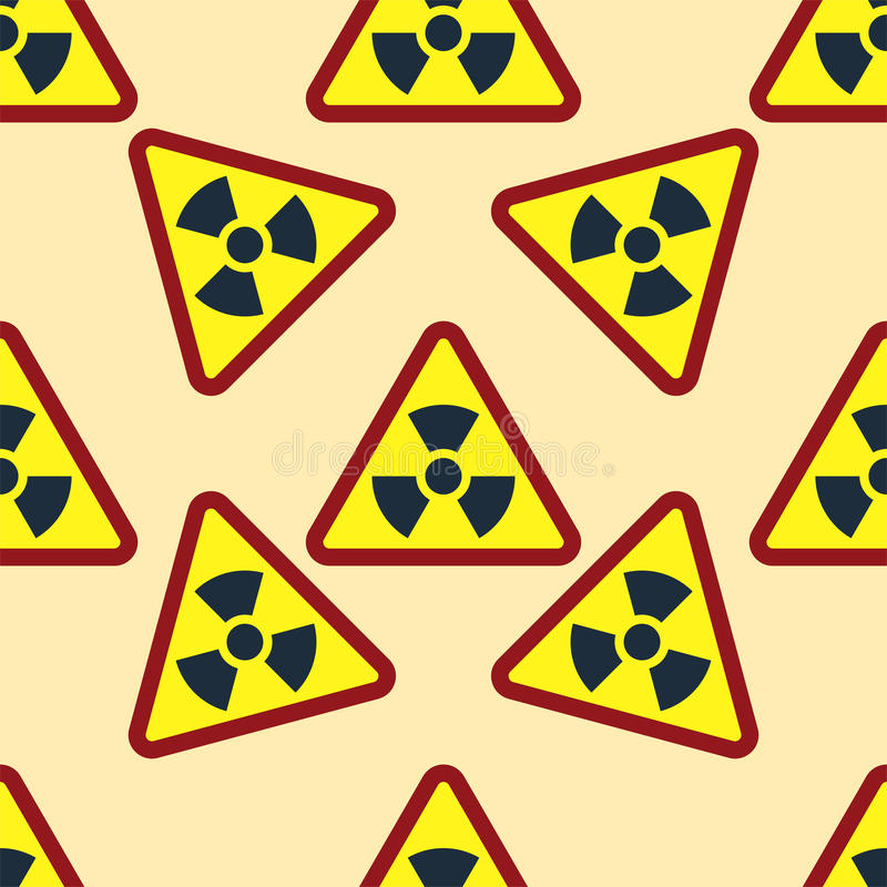 Seamless pattern background nuclear power sign vector industrial electric pollution station chimney smoke reactor symbol royalty free illustration