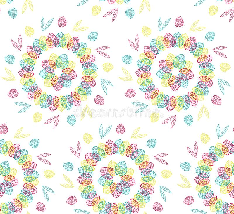 Seamless pattern and background for packaging organic, healthy and vegan food. Linear plants pattern vector. Seamless pattern and background for packaging vector illustration