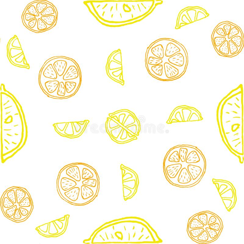 Seamless pattern and background for packaging organic, healthy and vegan food. Linear plants pattern vector. Seamless pattern and background for packaging stock illustration