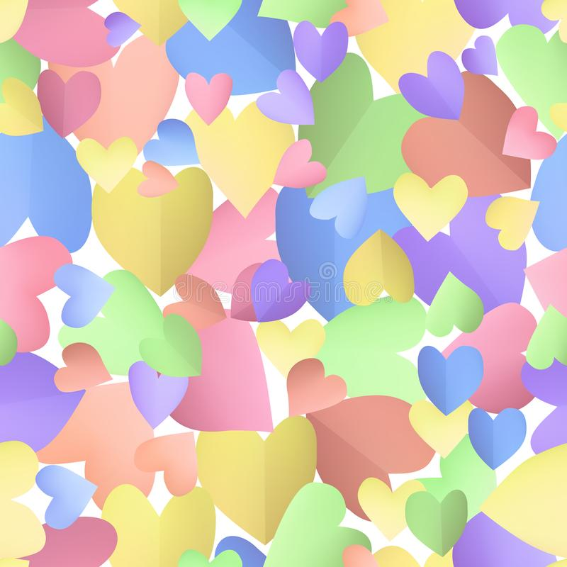 Seamless pattern background with pastel hearts. royalty free illustration