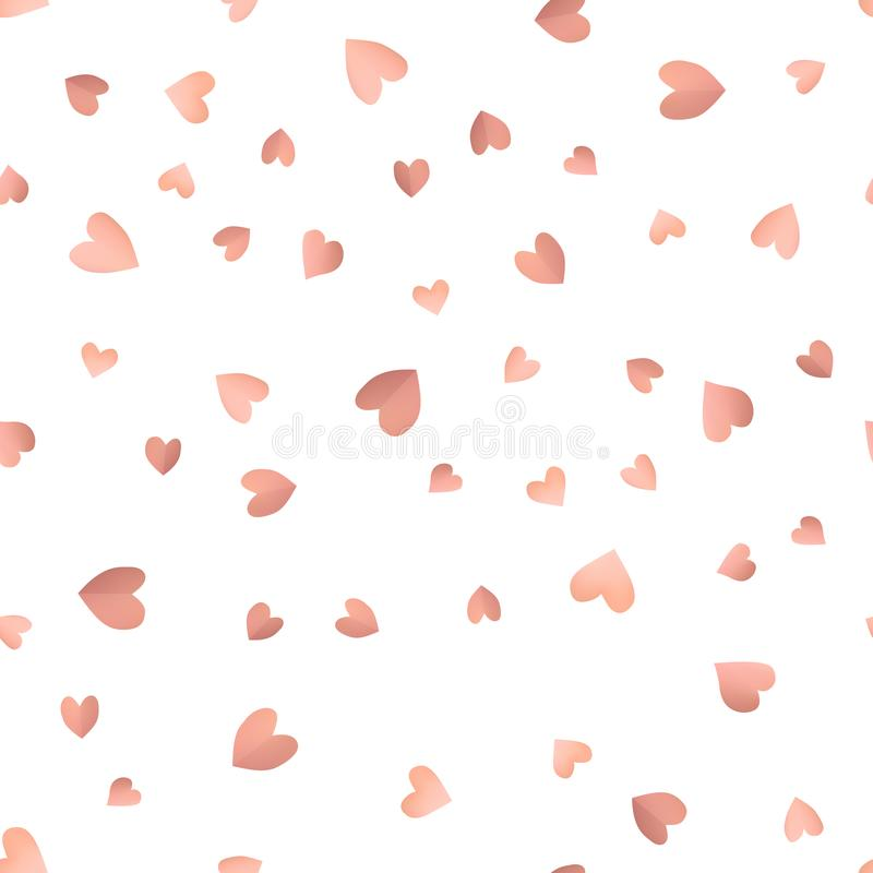 Seamless pattern background with pink hearts. vector illustration