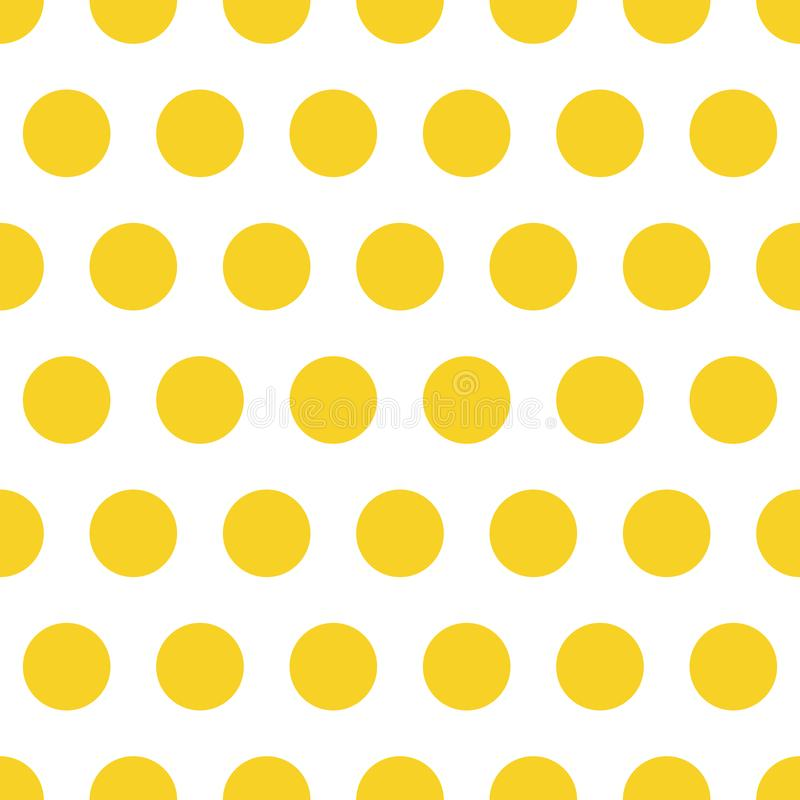 Seamless pattern background polka dot in orange color royalty free stock photos