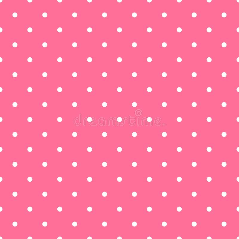 Seamless pattern background polka dot in pink color stock photography