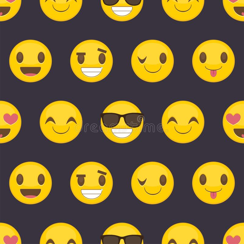 Seamless background with positive happy smileys royalty free illustration