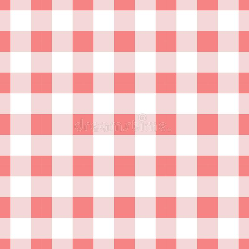 Seamless pattern background re gingham vector illustration