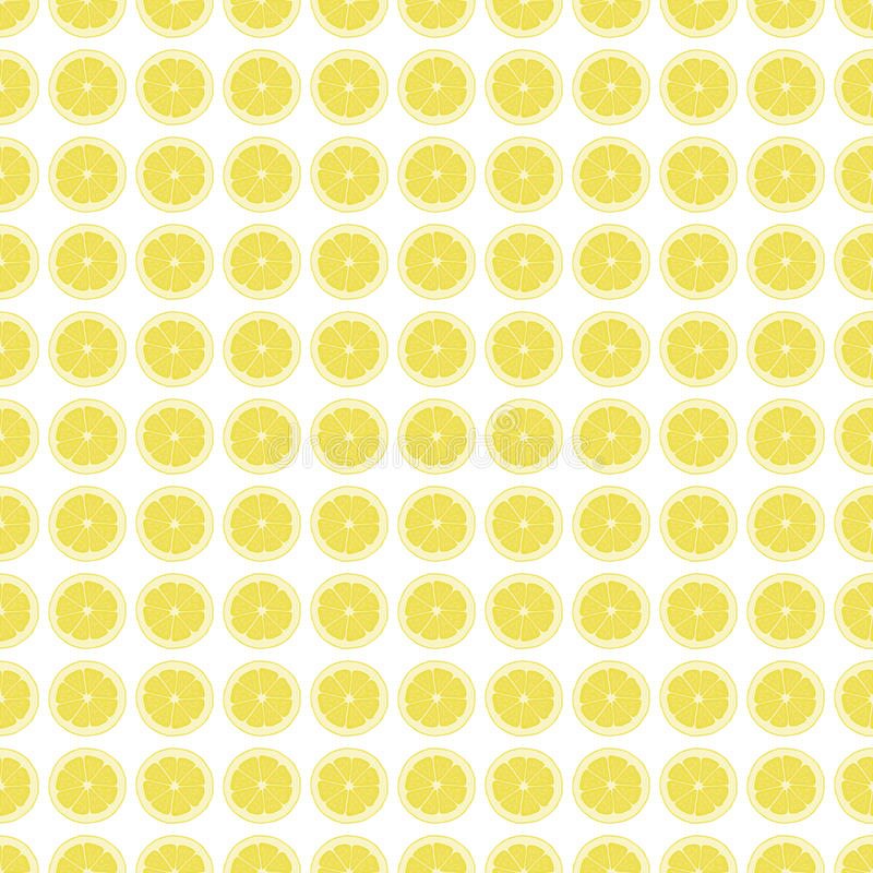Seamless pattern background with a slice of lemon. vector illustration