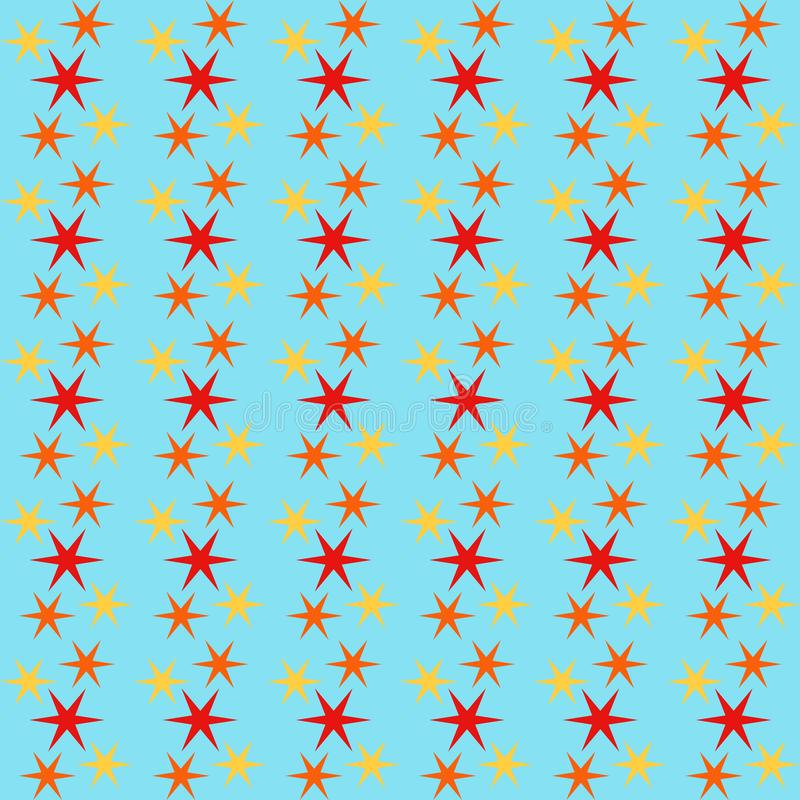 Seamless pattern background with stars, colorful illustration royalty free illustration