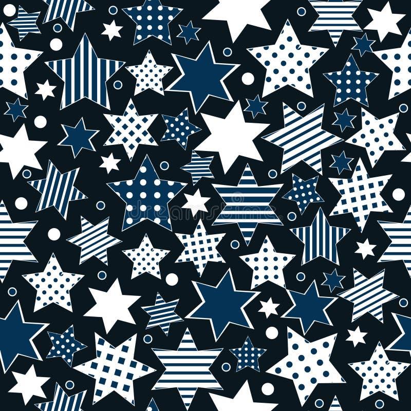 Seamless pattern background with stylized stars royalty free illustration