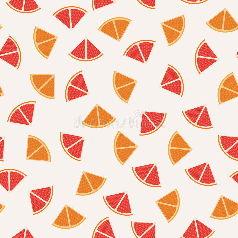 Seamless pattern background of tangerine, grapefruit and orange graphic. Tangerine, grapefruit and orange graphic design sliced in triangle pieces and arranged royalty free illustration