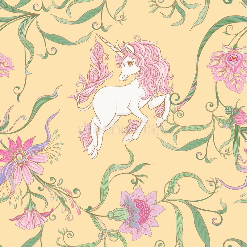 Seamless pattern, background with unicorn royalty free stock images