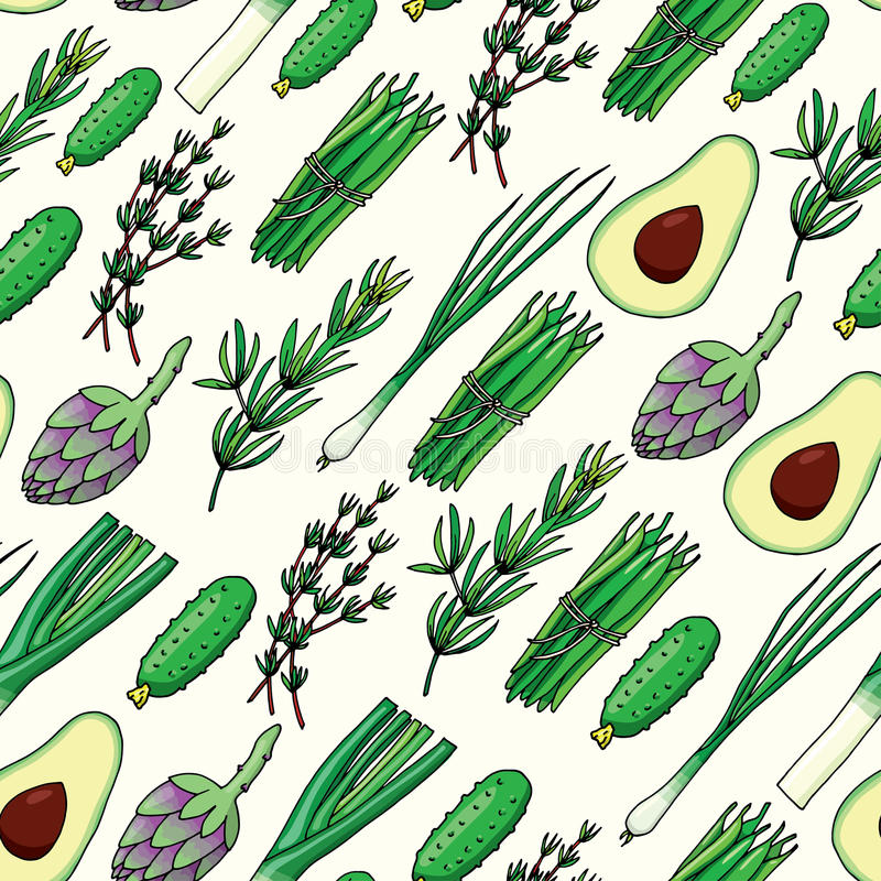 Seamless pattern background with vegetables vector illustration