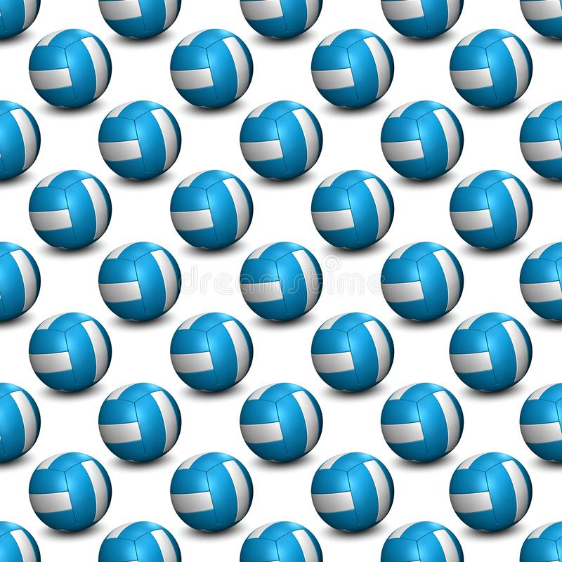 Free Seamless Pattern Background - Volleyball With Shadow - Blue And White 3D Illustration Isolated On White Background Royalty Free Stock Photography - 160716837