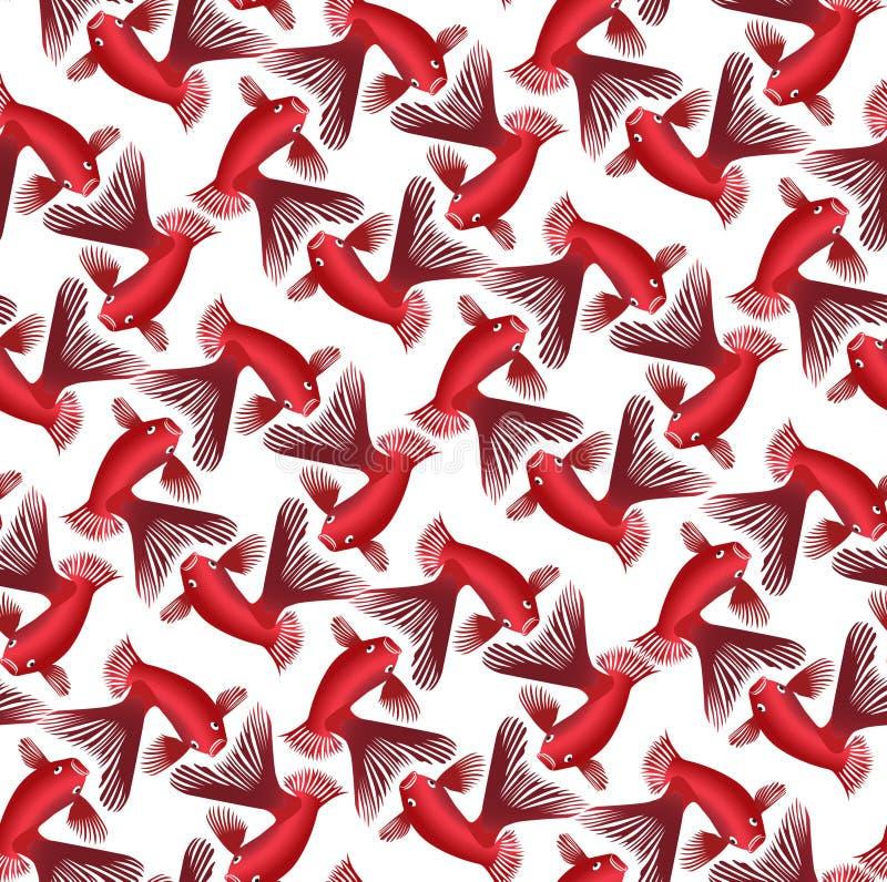 Seamless pattern background whith goldfish royalty free illustration