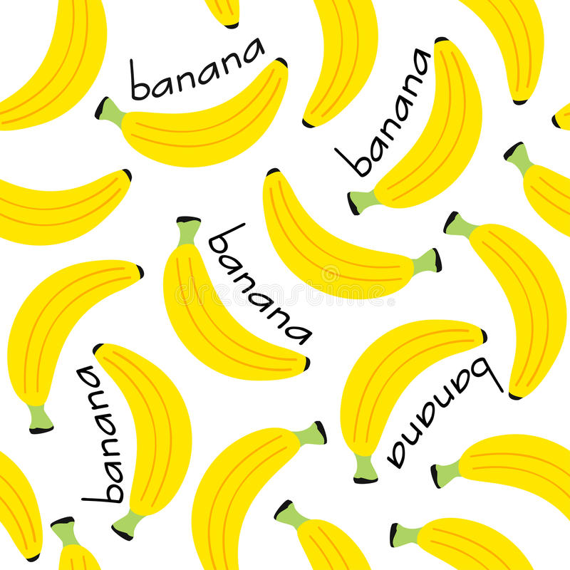 Seamless pattern with banana stock illustration