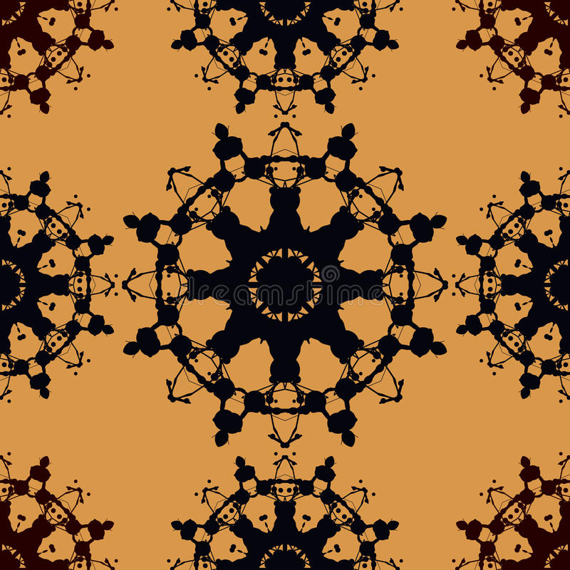 Seamless Pattern Based on Rorschach inkblot test. Abstract seamless pattern. For fabric, wallpaper, print, warping paper and so on vector illustration