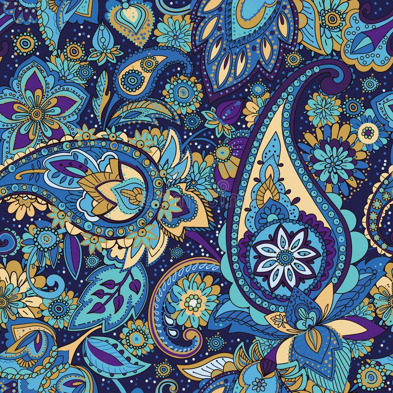 Paisley. Seamless pattern based on traditional oriental patterns stock illustration