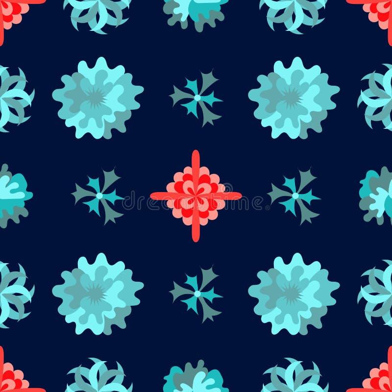 Seamless pattern with beautiful flowers. stock illustration