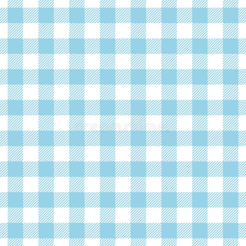 Seamless Pattern Big Check Blue And White vector illustration