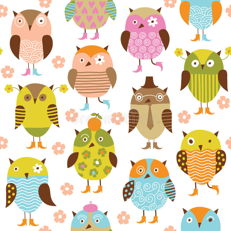 Download Seamless Pattern With Birds Stock Vector - Image: 17924739