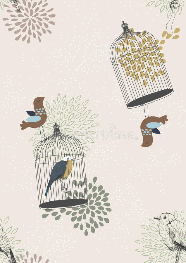 Download Seamless Pattern With Birds Stock Images - Image: 21037034