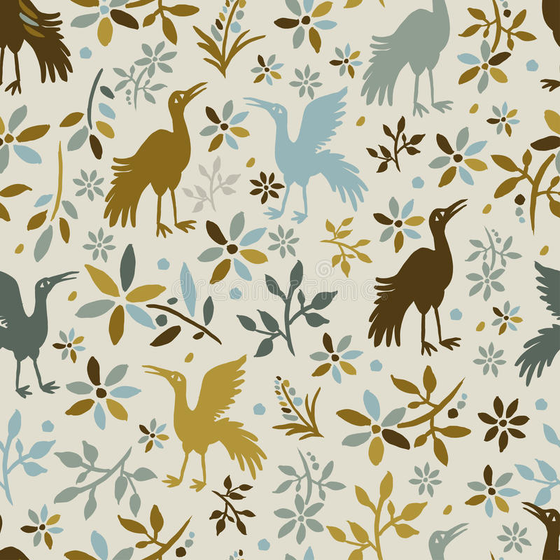 Download Seamless Pattern With Birds Stock Vector - Image: 28484923