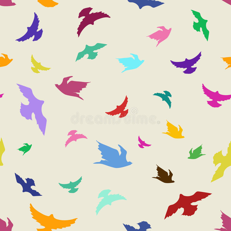 Download Seamless pattern of birds stock vector. Image of wrapping - 35778559