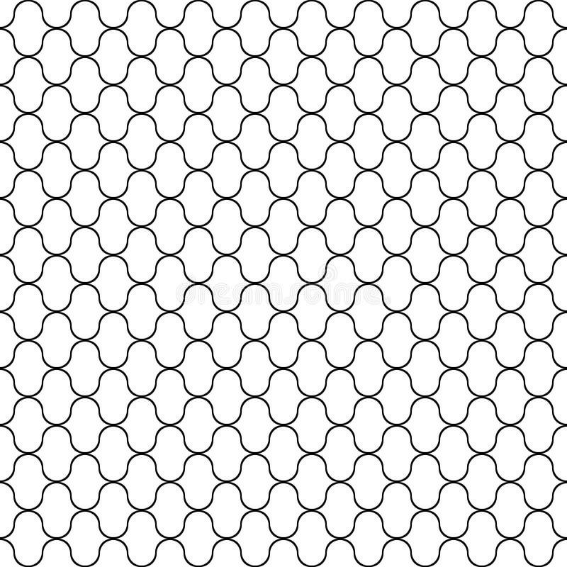 Seamless pattern. Black line texture on white background vector illustration