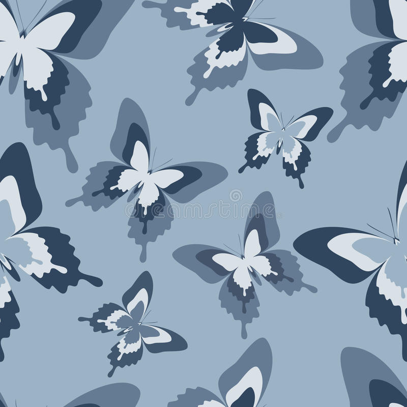 Download Seamless Pattern With Black, White And Grey Butterflies Stock  Vector   Illustration Of Elegant