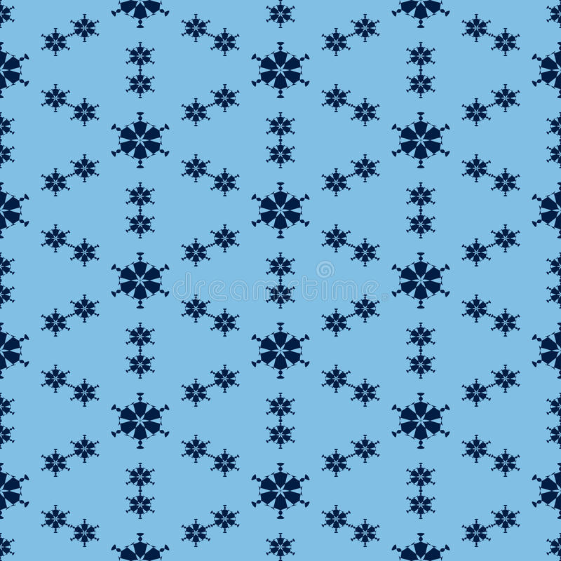 Seamless pattern from the blue crossed abstract hexagons. stock illustration