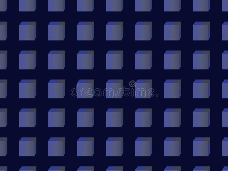 Seamless pattern of blue cubes. stock images