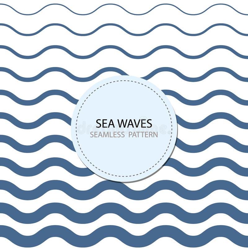 Abstract seamless wave pattern. stock illustration