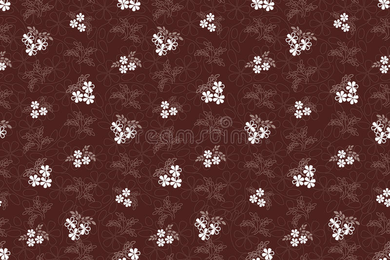 Download Seamless Pattern With Bouquets Of White Flowers Royalty Free Stock Photography - Image: 26029447