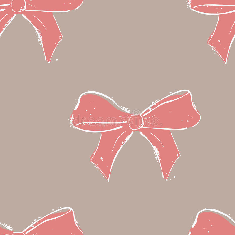 Seamless pattern bow. vector illustration