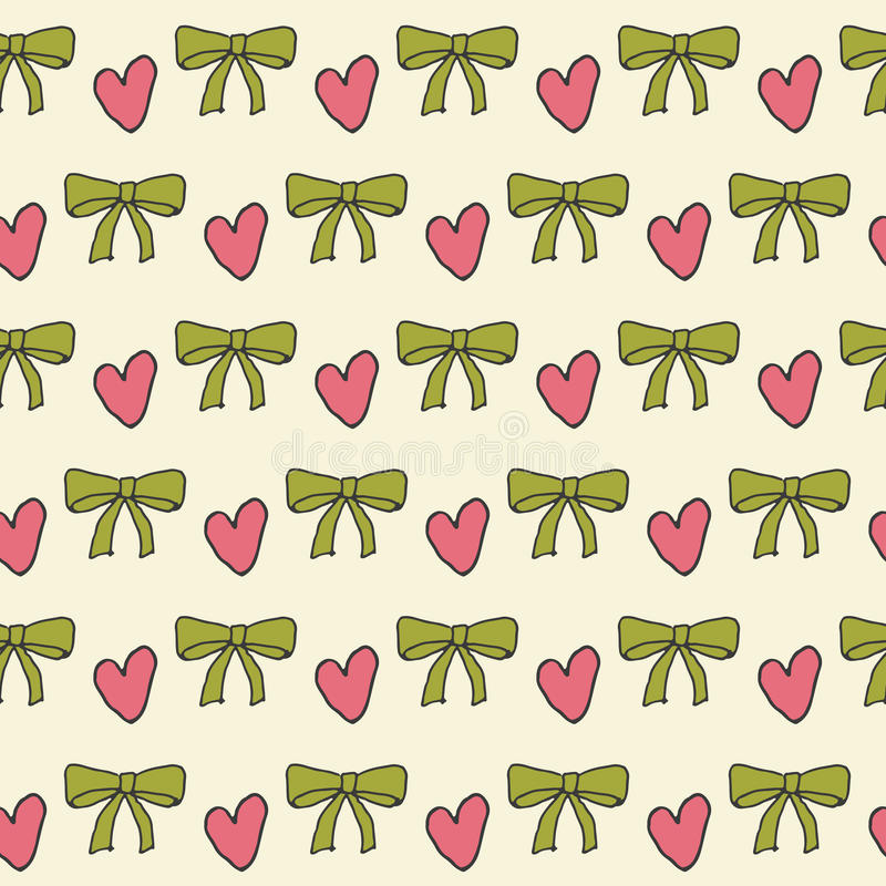Seamless pattern with a bow. Vector background royalty free illustration