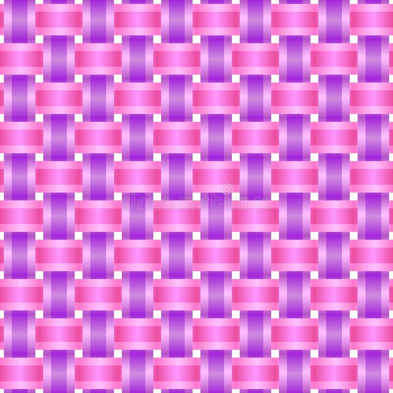 Seamless pattern braid two ribbons royalty free illustration
